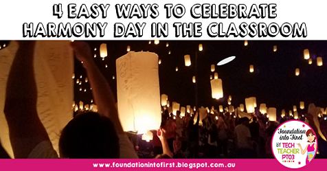 4 Ways to celebrate Harmony Day in the classroom.
