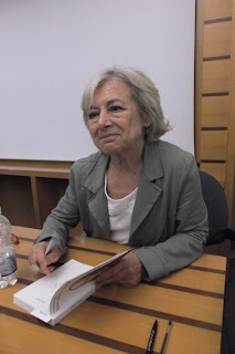 The journalist Giuliana Sgrena pictured at a book signing in Rome