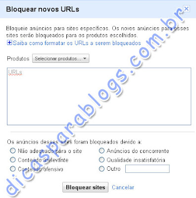 bloquear sites no google adsense