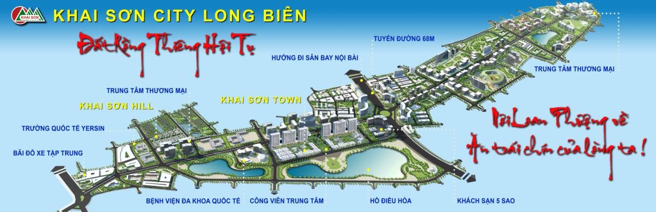 Phối cảnh tổng thể dự án Khai Sơn City