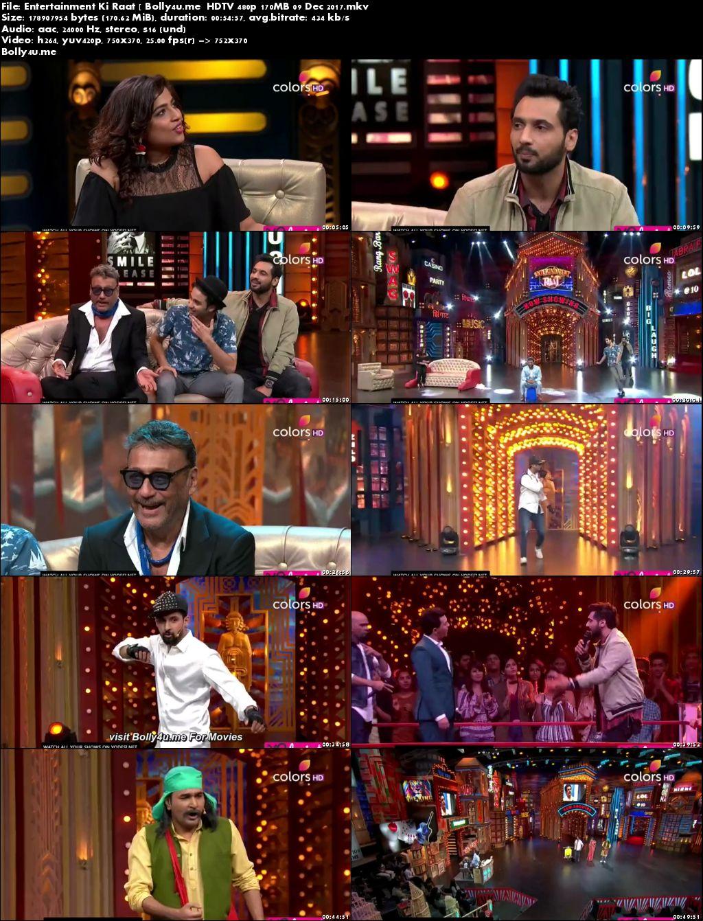 Entertainment Ki Raat HDTV 480p 170MB 09 Dec 2017 Download