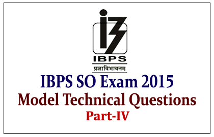 Model Technical Questions for IBPS Specialist Officer