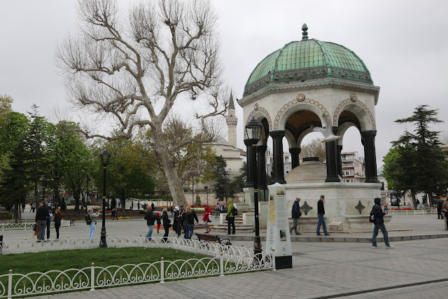 Fontaine Guillaume (William Wilhelm German Fountain) at Hippodrome in Istanbul, Turkey