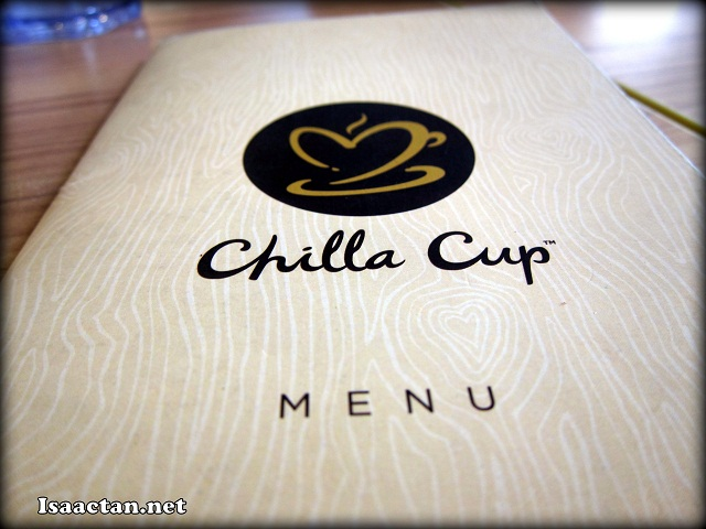 Chilla Cup Menu