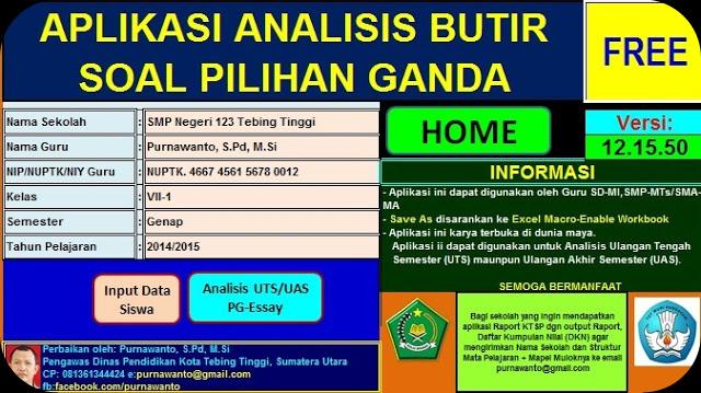 Download File Analisis Soal Pilihan Ganda Kurikulum 2013 Gratis