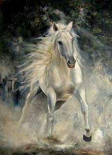 pinturas-coloridas-caballos-mujeres