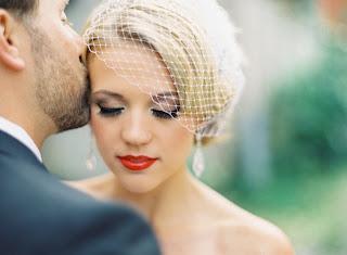 red lip wedding makeup