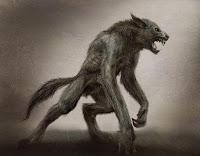 vilkatis, werewolf, latvian folklore, latvian mythology, latviešu folklora, latviešu mitoloģija, capital r, 2018, drawing