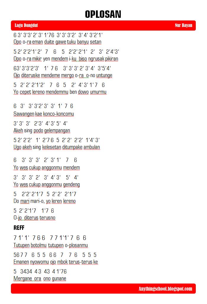 Kunci Lagu Dangdut Oplosan : kunci, dangdut, oplosan, Angka, Oplosan, Bayan, Lirik, Anythings, School