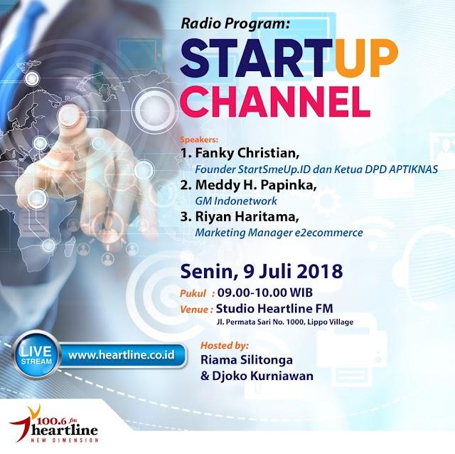 Talkshow Radio Heartline - Startup Channel 9 Juli 2018 - UKM Go Global