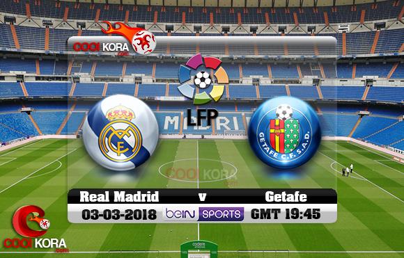 مشاهدة مباراة ريال مدريد وخيتافي اليوم 3-3-2018 في الدوري الأسباني