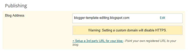 Blogger template editing 2 now click setup a 3rd party url for your blog point your own registered url to your blog pronofoot35fo Images