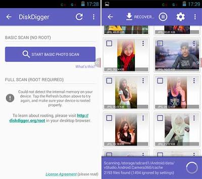 Cara Mengembalikan File / Foto / Data / Video Penting Terhapus dengan Aplikasi DiskDigger