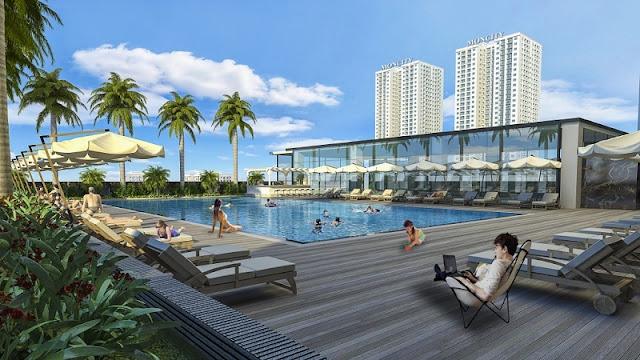 Bể bơi chung cư HD Mon City – Mỹ Đình