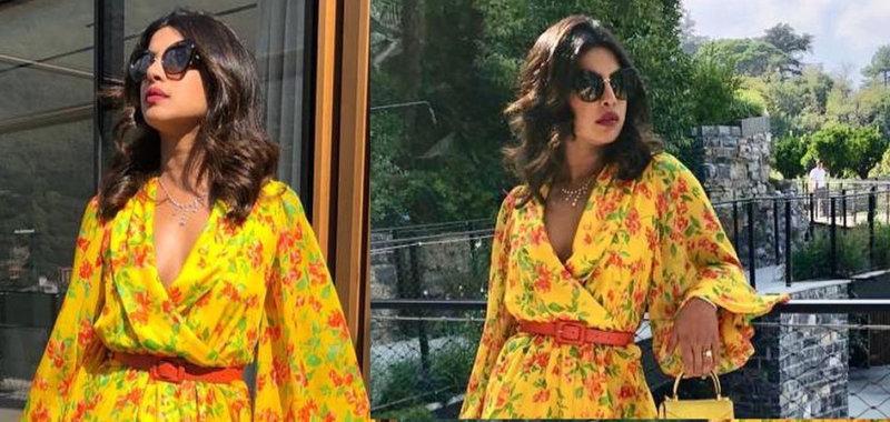 Priyanka Chopra Looks Hot in Yellow Outfit