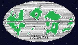 Trendal bolygó térképe 2.