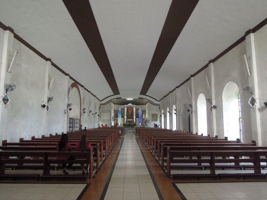 The interiors of Daraga Church in Albay