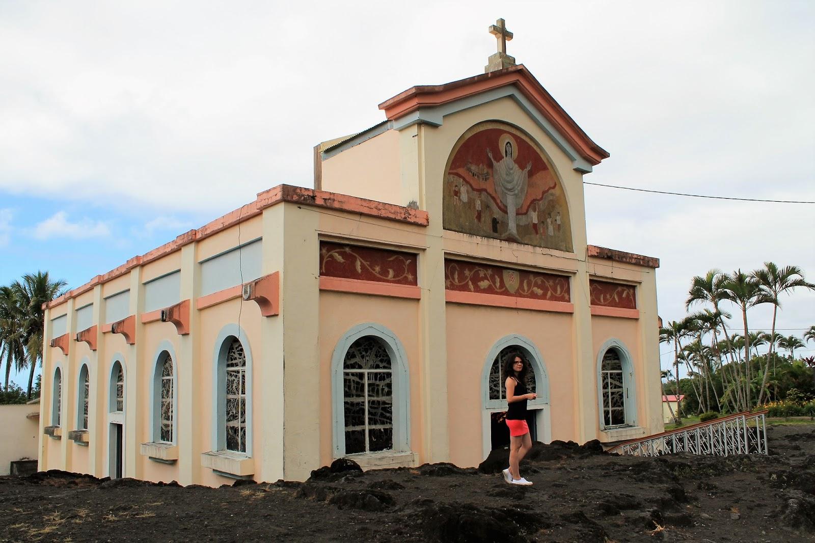 ile de la réunion route des laves sainte rose notre dames des laves église