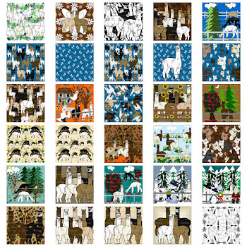Our Alpacas Rock Custom Fabric Design Collection