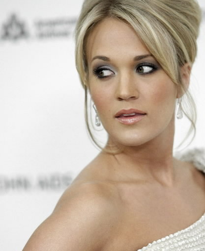 Celebrity Hairstyle: carrie underwood updo hairstyle.