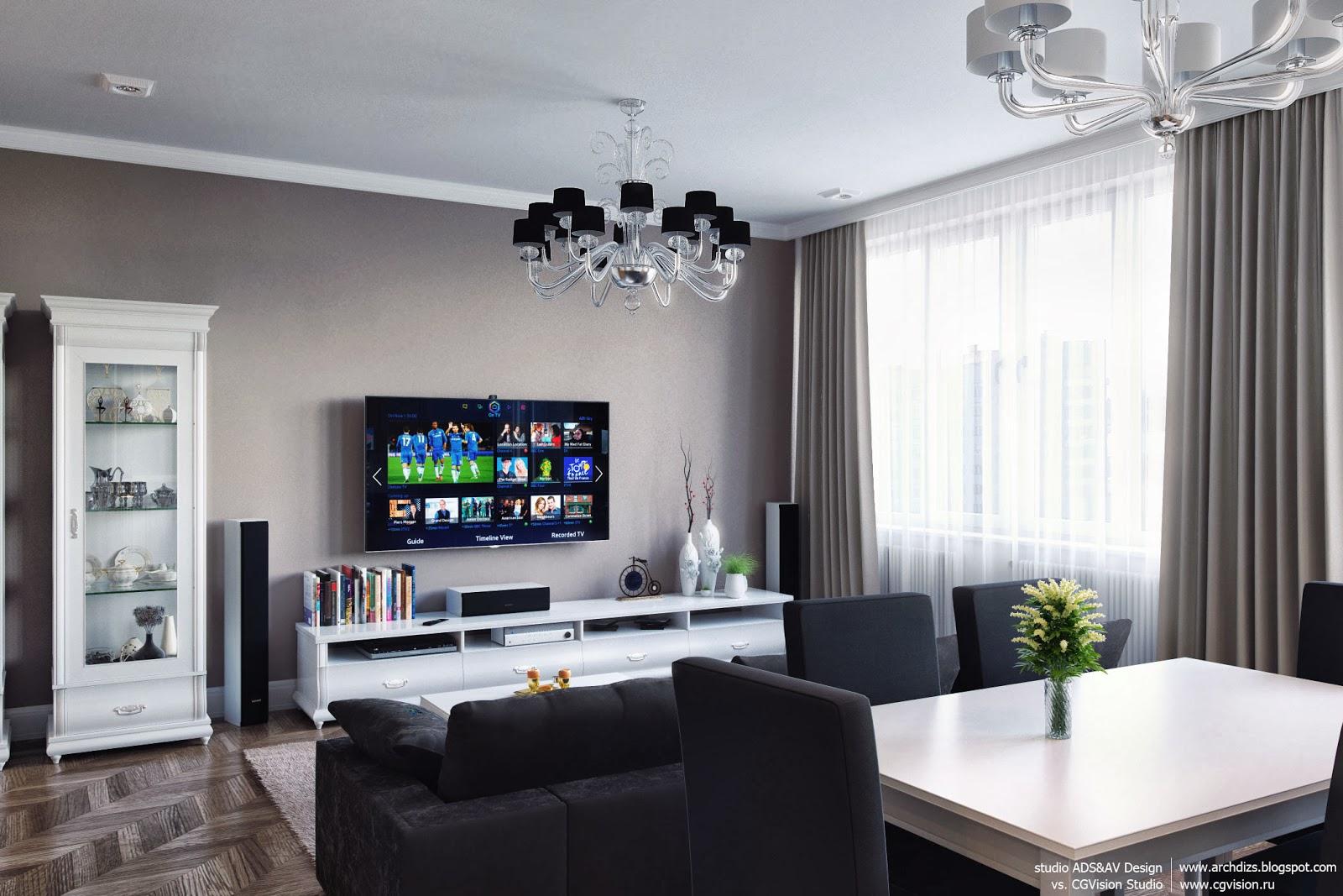 дизайн интерьера гостинной 5