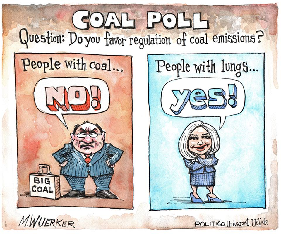 Title:  Coal Poll.  Question:  Do you favor regulation of coal?  People with coal say
