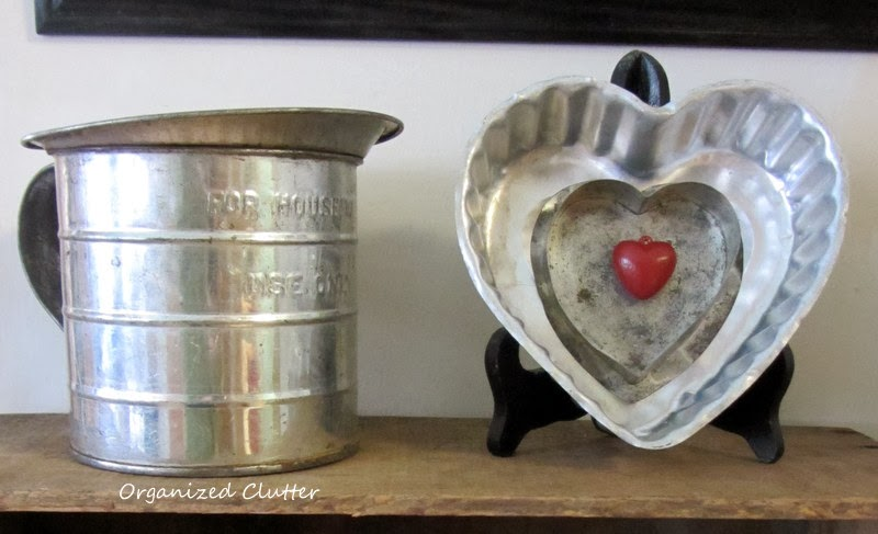 Easy Valentine's Day Decor with Thrift Shop Hearts www.organizedclutterqueen.blogspot.com
