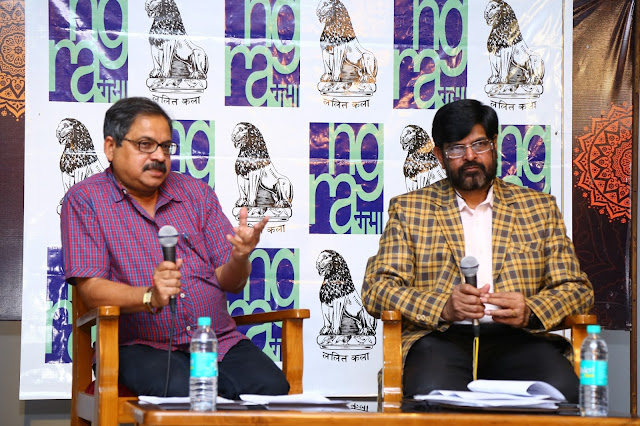 Shri Siddharth Gosh, Secretary Lalit Kala Akademi and Shri C.S. Krishna Setty, Administrator Lalit Kala Akademi at the Press Meet of 58th National Exhibition of Art