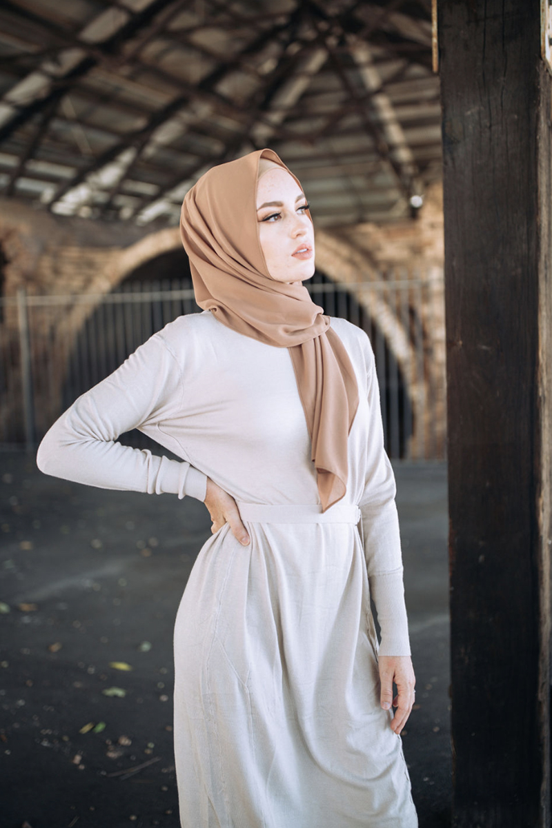 maxi dress legging kombinasi jilbab lebaran