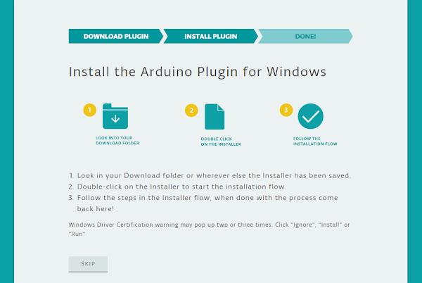 Tela Instruções para instalação do plugin