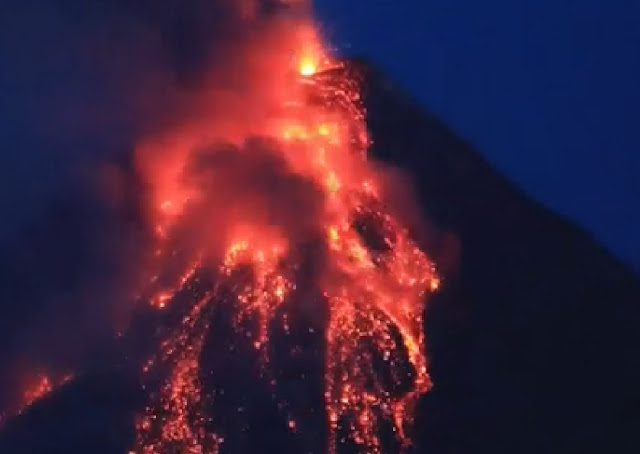 Mount Mayon volcano prepares to blow Naamloos
