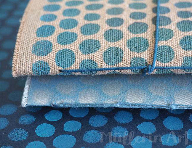 Kleingemusterter Stoff-und Papier Schablonendruck ©muellerinart