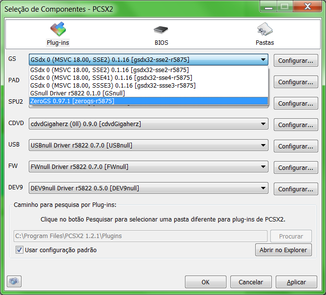 Pcsx2 gsnull plugin