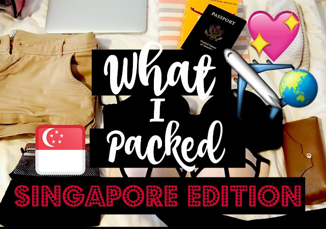 What I Packed for 1 Week in Singapore - MINIMALIST PACKING
