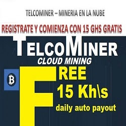 Telcominer inicia Bitcoin Cloud Mining ahora y obtenga 15KH/s gratis