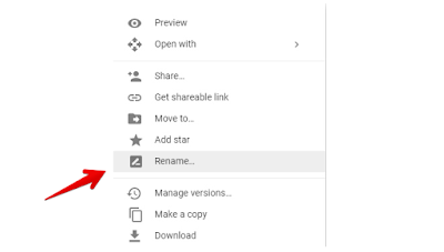Ganti Nama File di Google Drive
