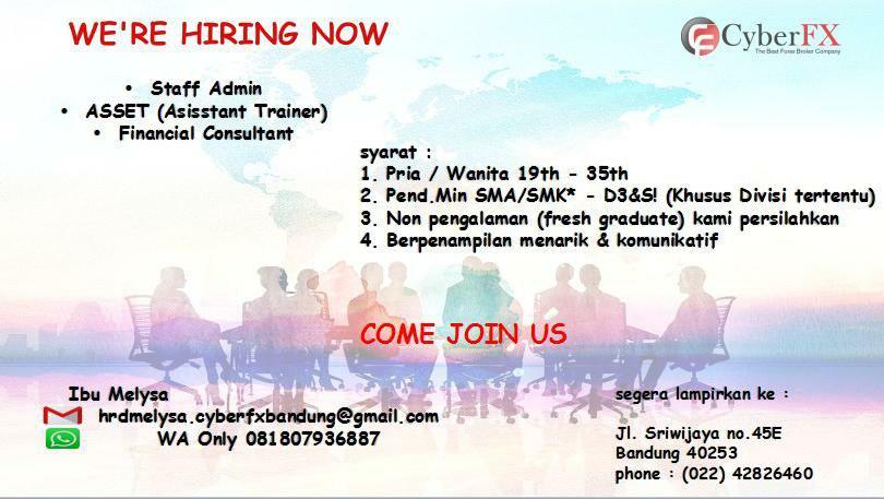 Lowongan Kerja PT. Cyber FX Bandung Februari 2019