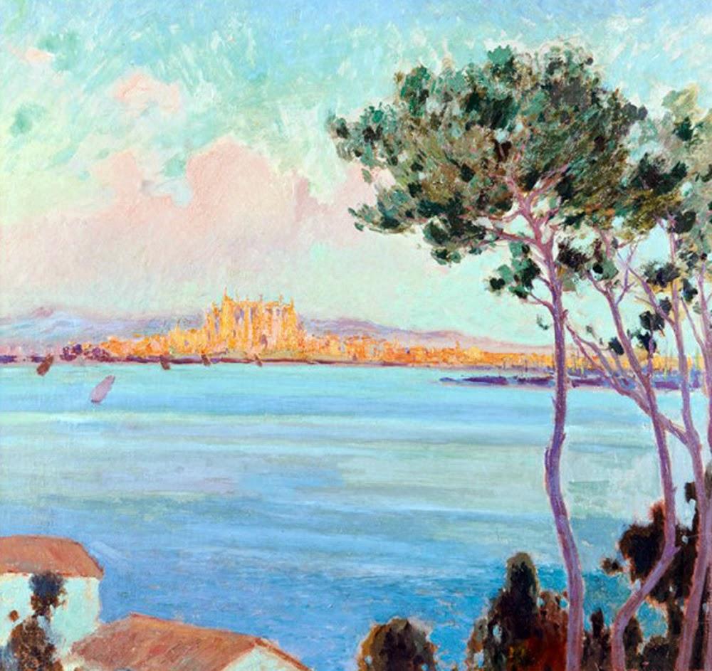 Joaquín Terruella Matilla, Vista de Mallorca, Paisajes de Mallorca, Mallorca en Pintura, Mallorca Pintada