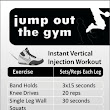 Instant vertical jump workout