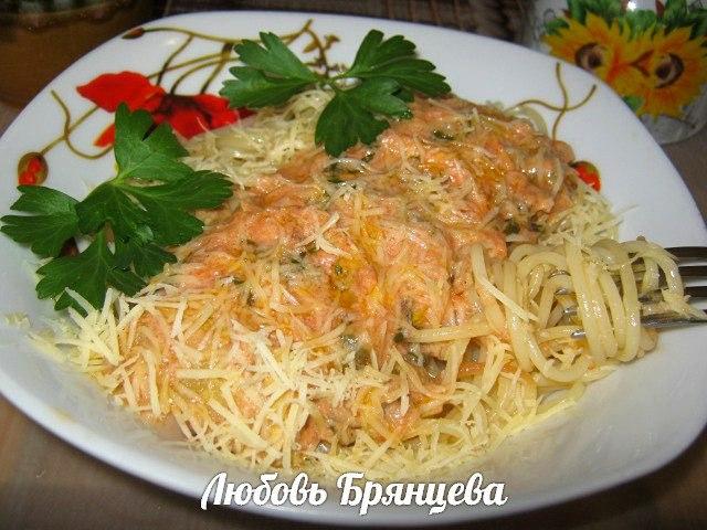 паста с кабачками в сливочном соусе