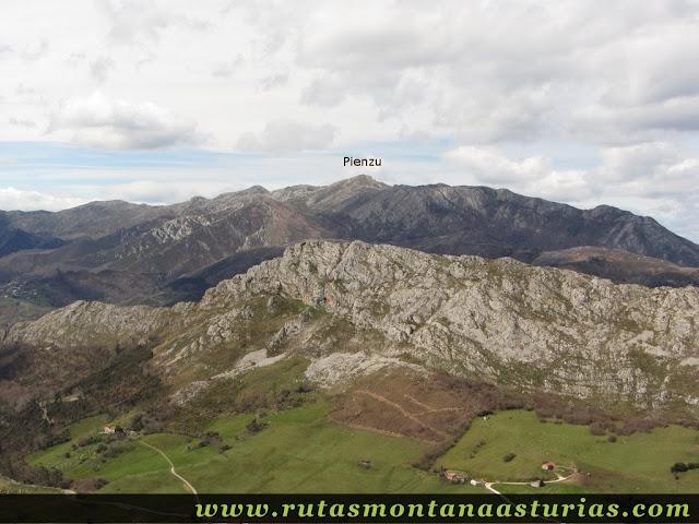 Pienzu desde Pico Moru, Parres