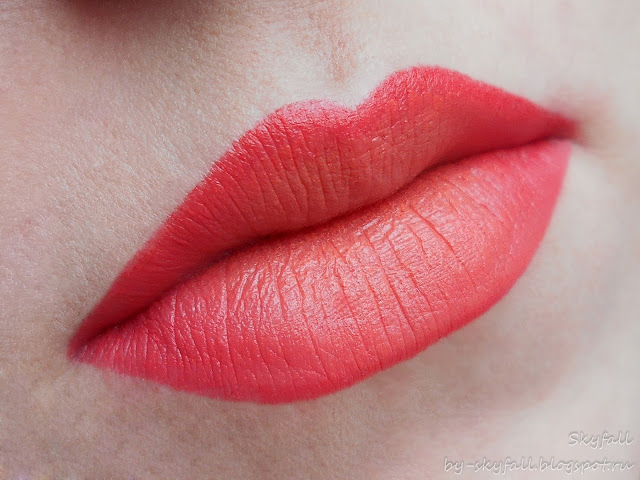 NYX Ombre Lip Duo Peaches and Cream, свотчи
