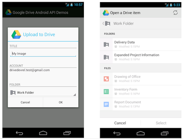Google Developers Blog: Introducing the Google Drive Android API