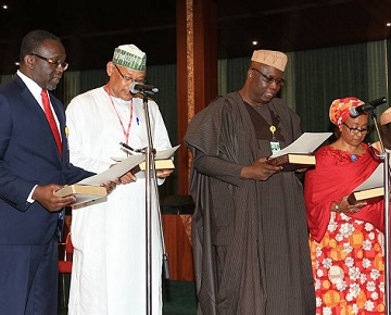 Buhari Swears In 4 Special Advisers, See Photos