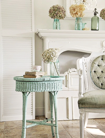 coastal design mixed with french decor