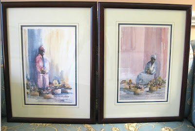 Flower Ladies Watercolors by Gaye Sanders Fisher for sale at rubylane.com