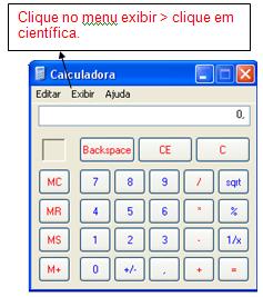calculadora cientifica windows xp