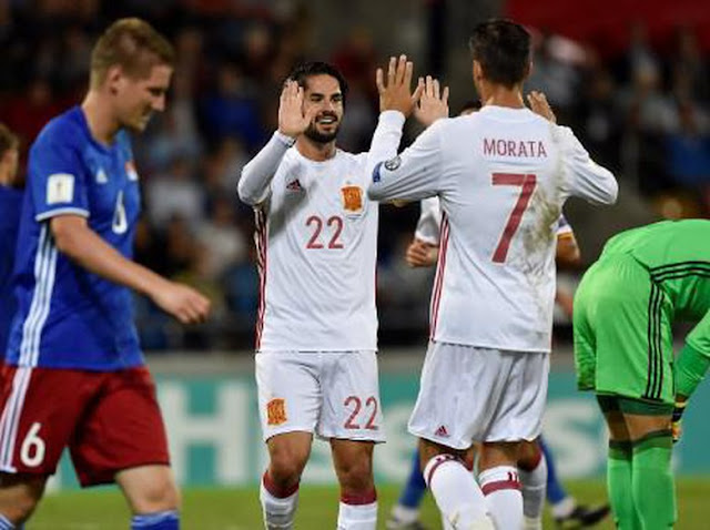 HASIL PERTANDINGAN SPANYOL VS LIECHTENSTEIN 8 - 0 PEMBANTAIAN SADIS !!
