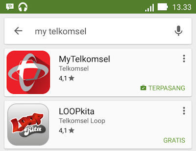 gambar cara download app my telkomsel