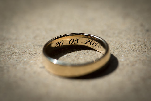 'Wedding Ring close up' by Sussex based wedding photographer David Peake